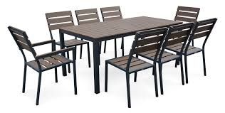 Table Et Banc Pliant Carrefour by Ensemble Table Et Chaise De Jardin Aluminium Salon De Jardin 4