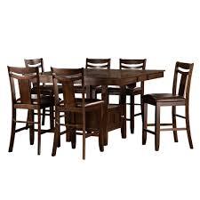7 piece dining room sets homesullivan barrington 7 piece warm brown bar table set 402524