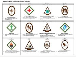 Cub Scout Arrow Of Light Annual Planning Calendar For Webelos Arrow Of Light Ranks For Lds