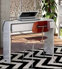 bureau 40 cm profondeur bureau 1 tiroir unico in blanc brillant