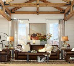 Pottery Barn Griffin Coffee Table Traditional Living Room With Pottery Barn Turner Square Arm