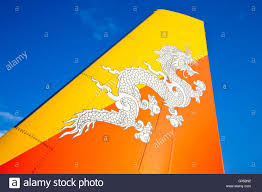 Country Flag Images Druk Air Royal Bhutan Airlines Plane Tail Featuring The Country