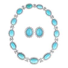 turquoise necklace sets images Chantecler capri turquoise diamond necklace set for sale at 1stdibs jpeg