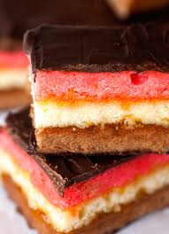 seven layer neapolitan cookies