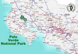 Map Costa Rica Palo Verde National Park Location Jpg