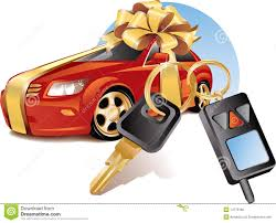 new car gift bow new car with stock photo image 14776180