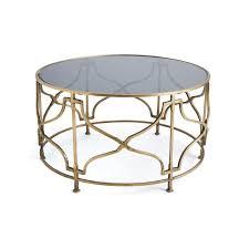 Open Coffee Table Open Gold Geometric Base Coffee Table