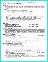 exles of resumes for awesome successful objectives in chemical engineering resume