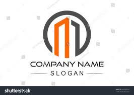 circular architecture icon symbol letter m stock vector 559763914
