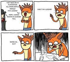 Crash Bandicoot Meme - r i p crash bandicoot meme subido por playstationallstars