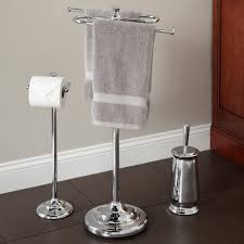 Bathroom Towel Tree Rack Smithfield Bathroom Set With S Shape Towel Bar Bathroom