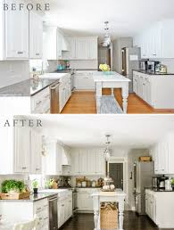 advanced kitchen cabinets diy white painted kitchen cabinets reveal