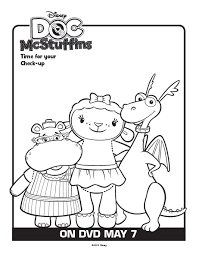 printable coloring pages doc mcstuffins coloring