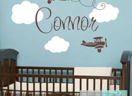 Boys Nursery Wall Decals Nursery Decor Nursery Wall Blue Gray Baby Boy Wall Boy