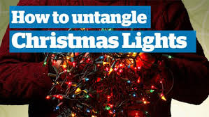 the science of untangling christmas lights