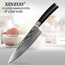 german kitchen knives xinzuo 8 inch blade pro chef knife 67 layers vg10 damascus