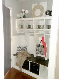 Ideas For Hanging Backpacks Remodelaholic Diy Entryway Mudroom With Cubbies For Under 150
