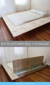Build Platform Bed Storage Underneath by Best 25 Diy Storage Bed Ideas On Pinterest Beds For Small Rooms