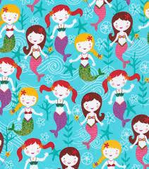 novelty cotton fabric mermaids joann
