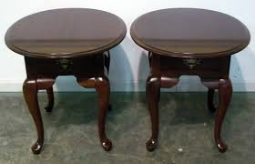solid cherry wood end tables oval end tables modern 3805 20 pair of broyhill solid cherry queen