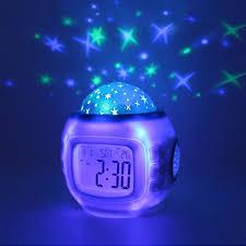 night light alarm clock multifunction alarm clock projector digital clock led calendar kids