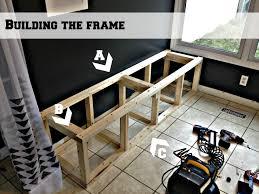 Built In Bench Seat Dimensions Wondrous Built In Banquette Bench 50 Kitchen Banquette Bench With