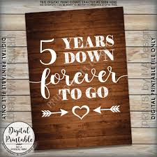 5th wedding anniversary gift 5 years forever to go 5th wedding anniversary gift wedding