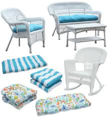 White Resin Wicker Loveseat White Outdoor Wicker Seating With Coastal Flair Shop The Look