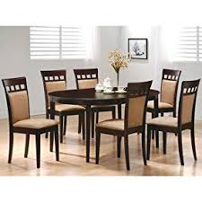oval dining room tables amazon com coaster home furnishings gabriel modern oval dining