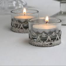 silver tea light holders mini elegant glass and silver tea light holder the wedding of my