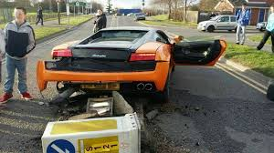 crashed lamborghini for sale driver u0027laughs u0027 after crashing lamborghini close to