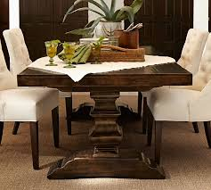 Large Extending Dining Table Banks Extending Dining Table Pottery Barn