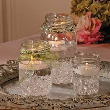 mason jar centerpiece orientaltrading com using blue water beads
