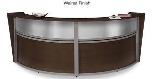 Reception Station Desk Ofm 55312 Marque Modern Receptionist Desk W Plexiglass