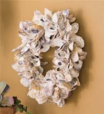 seashell wreath oyster shell wreath in wreaths