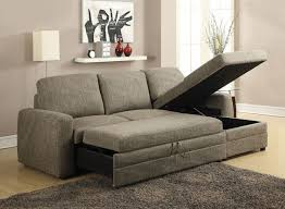 Sectional Sofa With Storage And Sleeper Acme 51645 Derwyn Light Brown Storage Sleeper Sectional Sofa Set