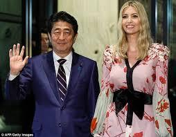 ivanka trump wears kimono inspired dress in japan daily mail online