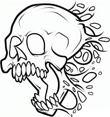 zombie skull coloring pages print coloringstar