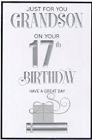 special grandson 17th birthday card co uk kitchen home