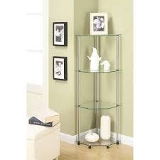 cool inspiration corner glass shelves nice ideas tier bathroom