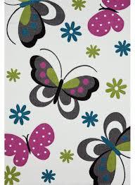 tapis chambre fille tapis chambre enfant papillons creme de la collection
