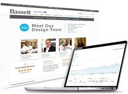 our web development work for bassett furniture