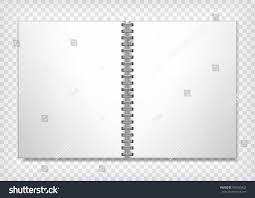 notebook mockup empty ring binding sketch stock vector 560423422