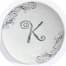 monogrammed guest book monogrammed guest book platter by museware pottery arabesque of