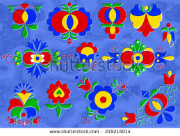 moravian folk ornaments south moravia stock vector 176671340
