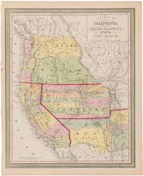 State Map Of New Mexico by 1853 Mitchell A New Map Of The State Of California The