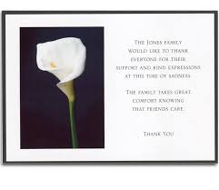 funeral card wording for funeral cards on flowers thank you card wedding thank