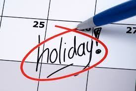 dealing with holidays on non working days reference