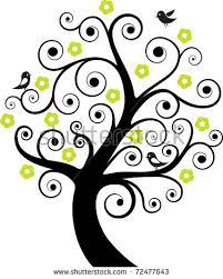 abstract tree bird stock vectors vector clip