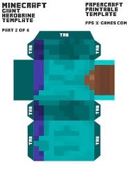 free printable blueprints minecraft herobrine printable template character 2 of 4